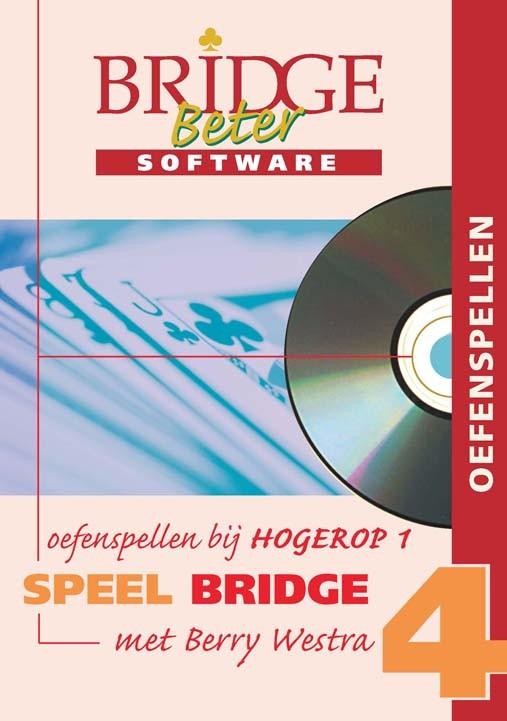 Speel bridge met Berry Westra oefenspellen 4 CD-ROM