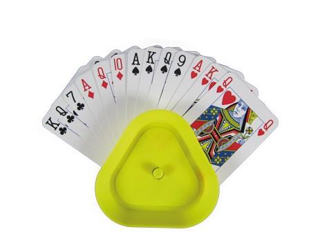 Plastic kaarthouder driehoek